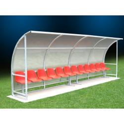 panchina per giocatori campo di calcio o calcetto da 6 posti