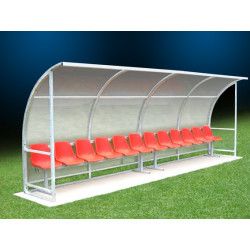 Panchina allenatori in alluminio 4 mt - 2 posti