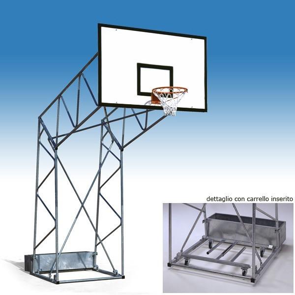 impianto basket a traliccio per esterno