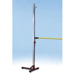 Coppia ritti salto in alto periscopici in alluminio 260 cm