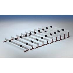 Serie ostacoli Over da 12 a 30 cm con assicella in legno