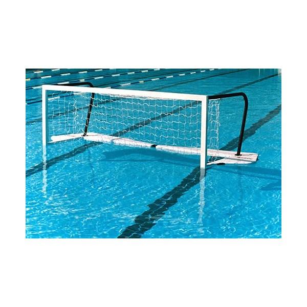 Coppia porte pallanuoto galleggianti da competizione