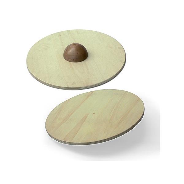 Pedana propriocettiva circolare in legno da 60 cm