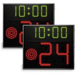 Coppia di indicatori 24 secondi programmabili norme FIBA