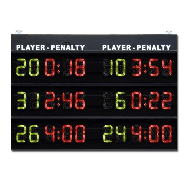Modulo per visualizzazione 3+3 tempi di penalità, serie M