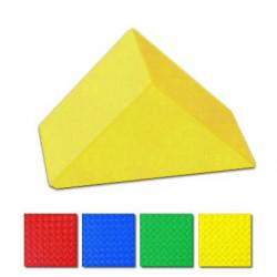 Triangolo imbottito per psicomotricità lato cm. 30, ignifugo in classe 1