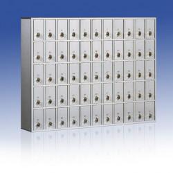 Casella portavalori cm. 8,5x18,5x15H in alluminio e bilam. (prezzo x casella)
