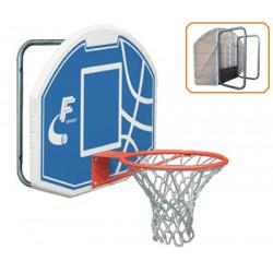 tabellone basket a parete con telaio