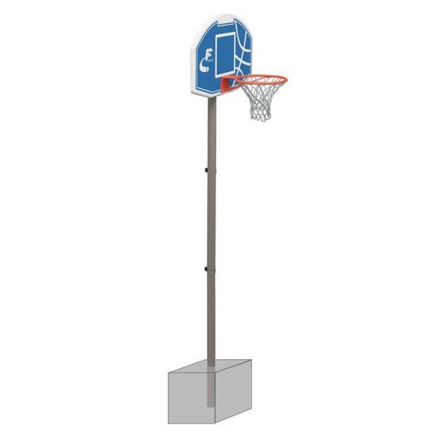 impianto basket fisso con tabellone ridotto