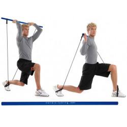 Barra FitnesStick Nordic Tubing cm. 110 imbottita da abbinare agli articoli 3961-2-3-4 per esercizi con gli elastici