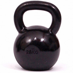 Kettlebell kg. 28 in ghisa con base in gomma