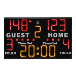 Tabellone tempo, punteggio, falli multisport portatile