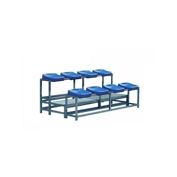 Tribuna mobile a 8 posti in acciaio zincato a caldo