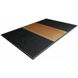 Pedana sollevamento pesi olimpica mt. 3x2 spessore 3,8 cm.