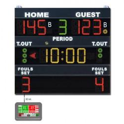 Tabellone elettronico segnapunti norme FIBA mod. MXL-F