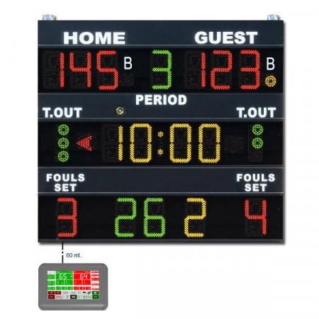 Tabellone elettronico segnapunti norme FIBA mod. MXL-G