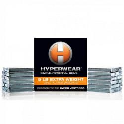 Pacco pesi da 2,5 kg. Booster Pack, per giubbetto Hyperwear