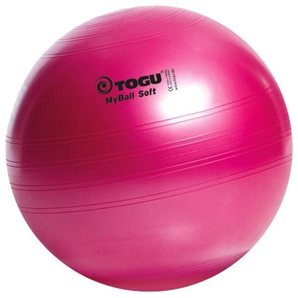 Palla ginnica Togu MyBall Soft colore rosso rubino, diam. 55/65/75