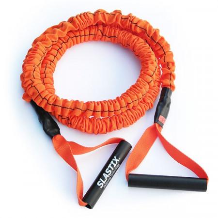 Slastix Toner Stroops rosso, medio, elastico con maniglie rivestito lunghezza cm. 150 o cm. 210