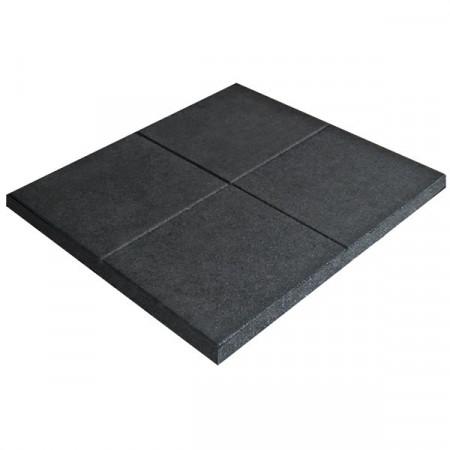 Pavimentazione antitrauma in gomma modulare, spessore 35 mm.