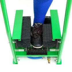 Lavascarpe con spazzole in nylon e attacco tubo acqua