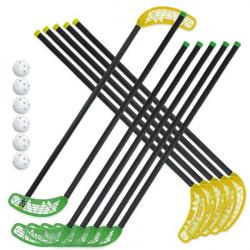 Set 6+6 stick Fiber per Unihoc e 6 palle