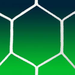 Coppia reti calcio - modello Esagonale Extra 6 mm.