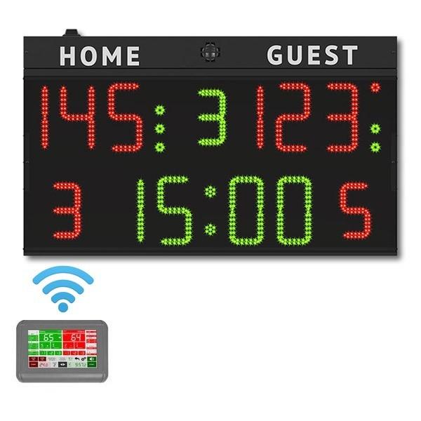 Tabellone elettronico multisport, COMPLETO di consolle Wireless