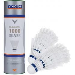 Set di 6 volani per badminton Victor 1000