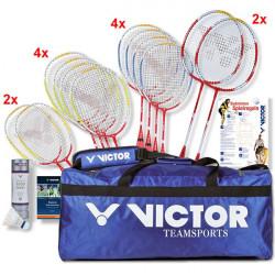 Set didattico con 12 racchette Victor Concept con borsa