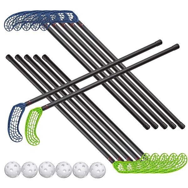 Set 6+6 mazze per Unihoc misura media, con 6 palle