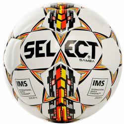 pallone calcio Select Samba misura 5 bianco giallo nero argento
