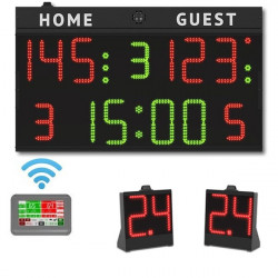 Set completo tabellone multisport + 24 secondi, WIRELESS