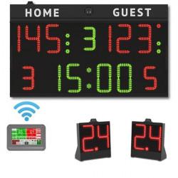 set completo segnapunti + 24 secondi + console
