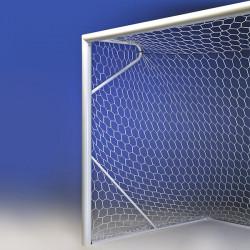 Porta calcio mt. 6x2 trasportabile singola in alluminio