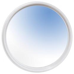 specchio rotondo con cornice in plastica diametro 50 cm
