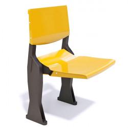 seduta autoportante per tribuna con gambe di sostegno