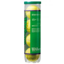 Tubo 4 palle tennis Wilson Starter Play Green