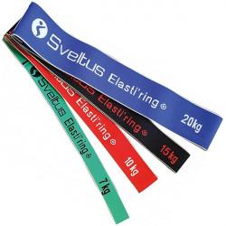 Set di 4 loop elastiring Sveltus per fitness e allenamento funzionale