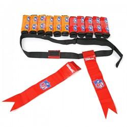 Set 12 cinture colorate Flag Football Wilson