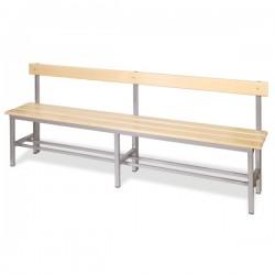 Panchina spogliatoio in alluminio da mt 2 con schienale