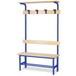 Panchina spogliatoio mt 1 completa colore blu