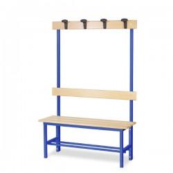 Panchina spogliatoio in alluminio da mt 1 con appendiabiti, blu