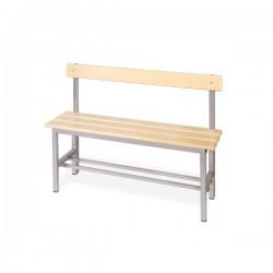 Panchina spogliatoio in alluminio da mt. 1 con schienale
