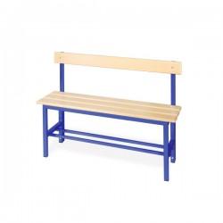 Panchina spogliatoio in alluminio da mt. 1 con schienale colore blu