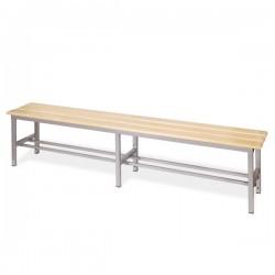 Panchina spogliatoio in alluminio da mt 2 solo seduta