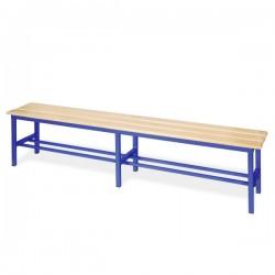 Panchina spogliatoio in alluminio da mt 2 solo seduta colore blu