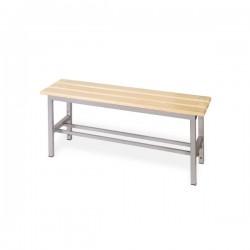 Panchina spogliatoio in alluminio da mt 1 solo seduta grigio