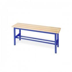 Panchina spogliatoio in alluminio da mt 1 solo seduta blu