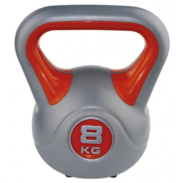 Kettlebell kg 8 per home fitness, colore rosso